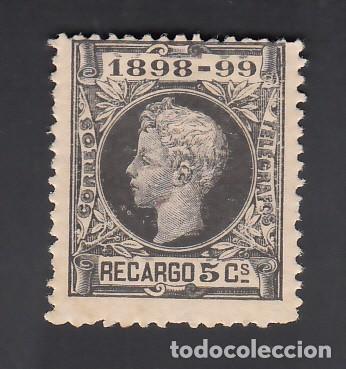 ESPAÑA, 1889-1901 EDIFIL Nº 240 /*/ 5 C. NEGRO, ALFONSO XIII, (Sellos - España - Alfonso XIII de 1.886 a 1.931 - Nuevos)