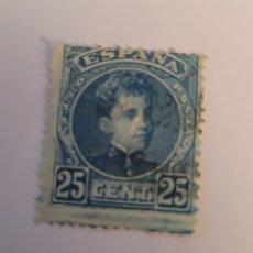 Sellos: SELLO DE ESPAÑA 1901. ALFONSO XIII CADETE 25 CTS. NUEVO. Lote 258248570