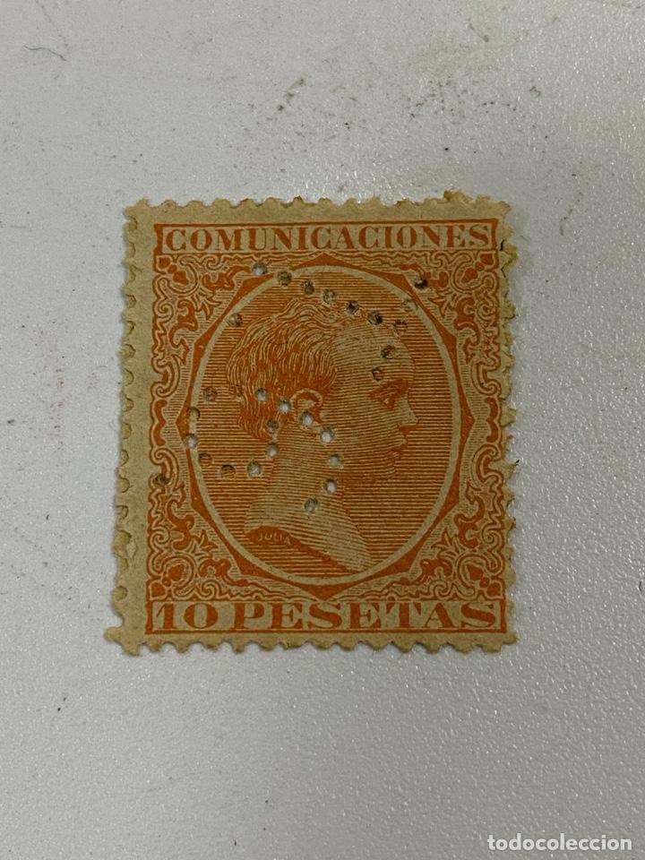ESPAÑA 1889. EDIFIL Nº 228. ALFONSO XIII PELON. PERFORADO. VER (Sellos - España - Alfonso XIII de 1.886 a 1.931 - Usados)