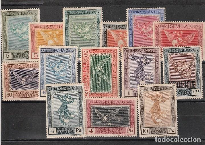 ESPAÑA.EDIFIL Nº517-530.AEREOS DE LA QUINTA DE GOYA.COMPLETA.NUEVOS CON CHARNELA. (Sellos - España - Alfonso XIII de 1.886 a 1.931 - Nuevos)