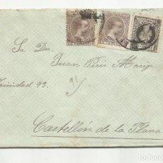 Sellos: CIRCULADA Y ESCRITA 1899 DE BILBAO A CASTELLO DE LA PLANA. Lote 259822300