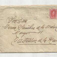 Sellos: CIRCULADA Y ESCRITA 1928 DE MADRID A CASTELLON. Lote 259826215