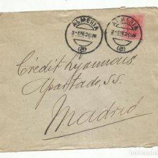 Sellos: CIRCULADA 1926 DE ALMERIA A CREDIT LYONNAIS MADRID. Lote 259826840