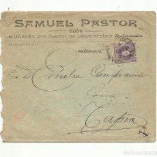 Sellos: CIRCULADA 1902 DE GIJON A TAPIA ASTURIAS. Lote 259829240