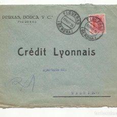 Sellos: CIRCULADA 1926 DE FIGUERES GIRONA GERONA A CREDIT LYONNAIS MADRID. Lote 259837240