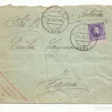 Sellos: CIRCULADA 1908 DE RIBADEO LUGO A TAPIA ASTURIAS. Lote 259838115