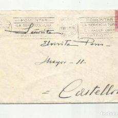 Sellos: CIRCULADA Y ESCRITA 1928 DE MADRID A CASTELLON. Lote 259838745