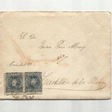 Sellos: CIRCULADA Y ESCRITA 1901 DE CIUDAD REAL A CASTELLON. Lote 259839160