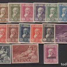 Sellos: 1930 QUINTA DE GOYA EXP. SEVILLA EDIFIL 499S/515S* VC 355€. Lote 260051890