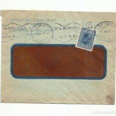 Sellos: CIRCULADA BANQUE FRANCO SERBE 1928 DE BELGRADO SERBIA A CARCAIXENT CARCAGENTE VALENCIA. Lote 260316325