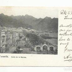 Sellos: TARJETA POSTAL MARINA CIRCULADA 1905 DE TENERIFE A LONDON MARCA LIVERPOOL SHIP. Lote 260316755