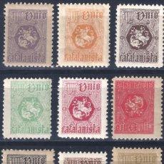Selos: UNIÓ CATALANISTA. LOTE DE 12 VIÑETAS DISTINTAS Y DE DIFERENTES COLORES. MNH **. Lote 260390440