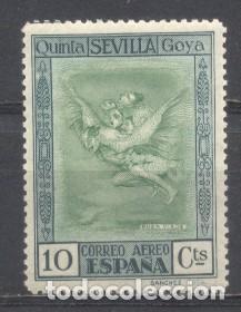 ESPAÑA, 1930, QUINTA DE GOYA EN LA EXPO DE SEVILLA, EDIFIL 519,NUEVO CON GOMA, (Sellos - España - Alfonso XIII de 1.886 a 1.931 - Nuevos)