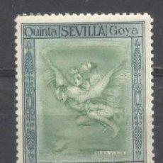 Sellos: ESPAÑA, 1930, QUINTA DE GOYA EN LA EXPO DE SEVILLA, EDIFIL 519,NUEVO CON GOMA,. Lote 260603915