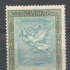 Sellos: ESPAÑA, 1930, QUINTA DE GOYA EN LA EXPO DE SEVILLA, EDIFIL 517,NUEVO CON GOMA,. Lote 260604115