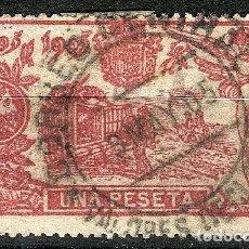 Sellos: ESPAÑA 1905 QUIJOTE EDIFIL 264 USADO MATASELLOS Y SELLO CENTRADO PRECIOSO NUMERO BAJO. Lote 260777810