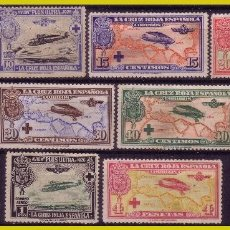 Sellos: 1926 CRUZ ROJA, AÉREOS, EDIFIL Nº 339 A 348 (*) COMPLETA. Lote 260817425