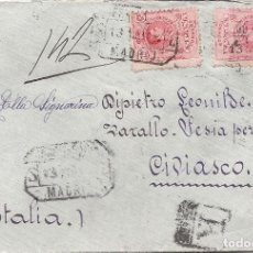 Sellos: ESPAÑA.AÑO 1913.CARTA CIRCULADA; MADRID - ITALIA.. Lote 261230435