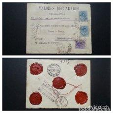 Sellos: ESPAÑA.MONARQUIA AÑO 1915.CARTA CIRCULADA.. Lote 261234380
