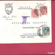 Sellos: ESPAÑA.AÑO 1921. CARTA CIRCULADA .BARCELONA - ITALIA.. Lote 261235835