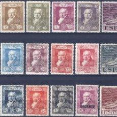 Sellos: EDIFIL 499-516 QUINTA DE GOYA 1930 (SERIE COMPLETA). VALOR CATÁLOGO: 95 €. MLH. (SALIDA: 0,01 €).. Lote 261572075