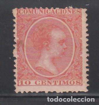 ESPAÑA, 1899-1901 EDIFIL Nº 218 /**/, ALFONSO XIII, 10 C. BERMELLÓN, SIN FIJASELLOS (Sellos - España - Alfonso XIII de 1.886 a 1.931 - Nuevos)
