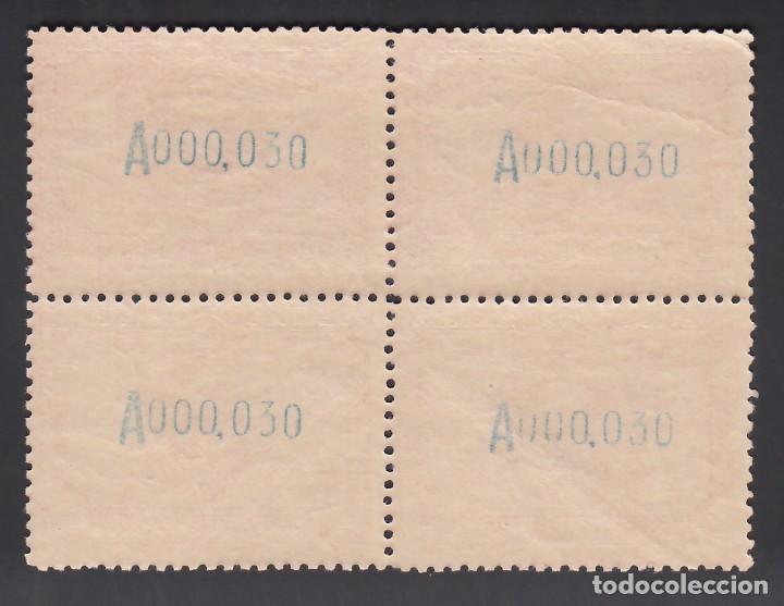 Sellos: ESPAÑA, 1929 EDIFIL Nº 445 /**/ , 4 pts lila rosáceo, Bloque de Cuatro, SIN FIJASELLOS - Foto 2 - 261697030