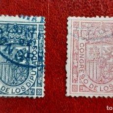 Sellos: ESPAÑA 1896/98. EDIFIL 230/1 CIRCULADOS. Lote 261962525