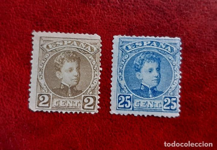 ESPAÑA 1901/5. EDIFIL 241* Y 248*. NUEVOS (Sellos - España - Alfonso XIII de 1.886 a 1.931 - Nuevos)