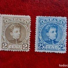 Sellos: ESPAÑA 1901/5. EDIFIL 241* Y 248*. NUEVOS. Lote 261966250