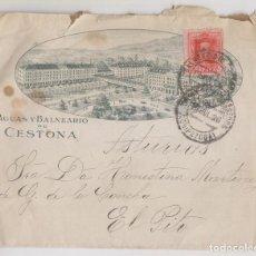 Sellos: SOBRE. BALNEARIO DE CESTONA, GUIPÚZCOA. 1926. A CUDILLERO, ASTURIAS. Lote 261973080