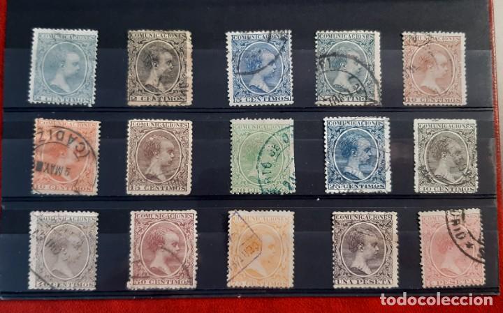 ESPAÑA 1889/1901. EDIFIL 213/227. CIRCULADOS (Sellos - España - Alfonso XIII de 1.886 a 1.931 - Usados)