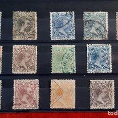Sellos: ESPAÑA 1889/1901. EDIFIL 213/227. CIRCULADOS. Lote 261998940