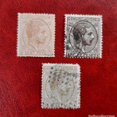 Sellos: ESPAÑA 1878. EDIFIL 191,2 Y 4 CIRCULADOS.. Lote 261999660