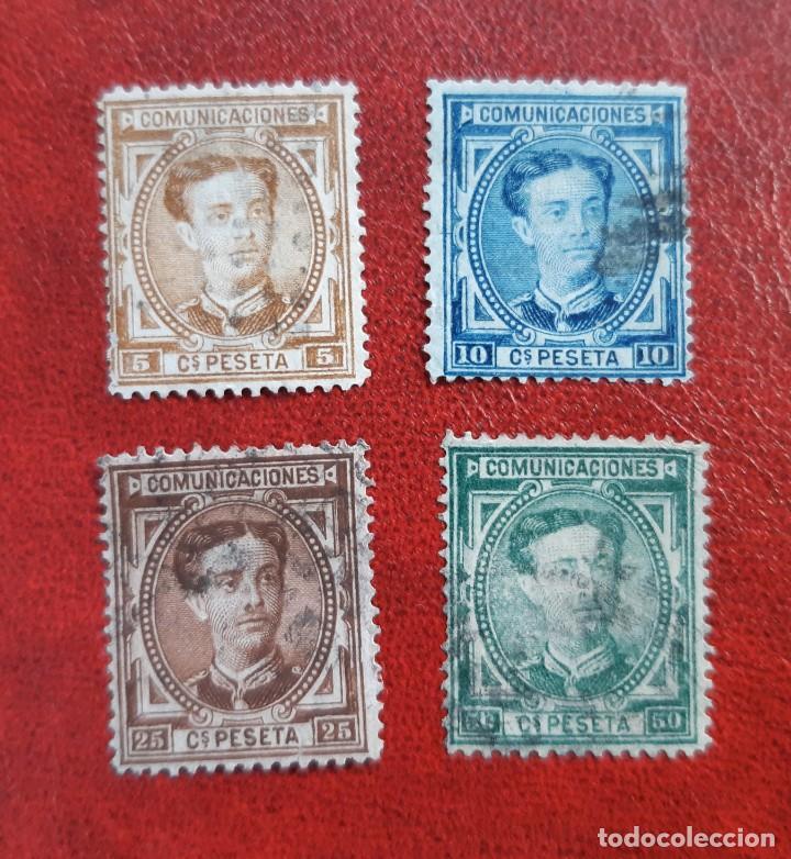 ESPAÑA 1876. EDIFIL 174, 5, 7 Y 9 CIRCULADOS. (Sellos - España - Alfonso XIII de 1.886 a 1.931 - Usados)
