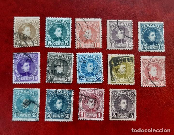 ESPAÑA 1901/1905. EDIFIL 241/54 CIRCULADOS. (Sellos - España - Alfonso XIII de 1.886 a 1.931 - Usados)