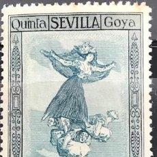 Selos: EDIFIL 528 MNH SELLOS ESPAÑA AÑO 1930 QUINRA DE GOYA EXPOSICION EN SEVILLA SOMBRAS. Lote 262041570
