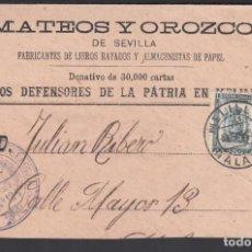 Sellos: SOBRE, MELILLA A MÁLAGA, CON FRANQUICIA MILITAR, MARCA, BATALLÓN DE CAZADORES DE SEGORBE. Lote 262226180