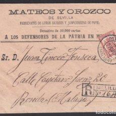 Sellos: SOBRE, MELILLA A RONDA, CON FRANQUICIA MILITAR, MARCA, BATALLÓN DE CAZADORES DE CUBA.. Lote 262228460