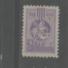 Sellos: LOTE G-SELLO VIÑETA UNION CATALANA CATALUÑA BARCELONA AÑO 1900 UNIO CATALANISTA. Lote 262363145