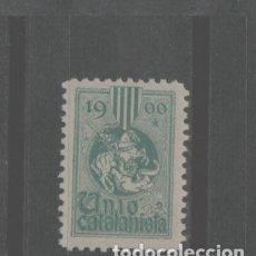 Sellos: LOTE G-SELLO VIÑETA UNION CATALANA CATALUÑA BARCELONA AÑO 1900 UNIO CATALANISTA. Lote 289898998