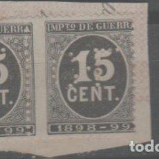 Sellos: LOTE G-SELLOS ESPAÑA AÑO 1898 TALADRO ALTO VALOR. Lote 262365315