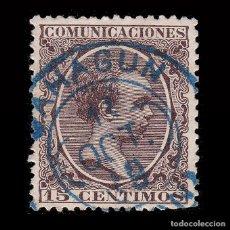 Sellos: 1889-1901.ALFONSO XIII.30C.TREBOL SAHAGUN.EDIFIL.222. Lote 262936725