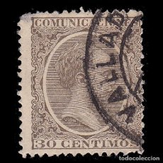 Sellos: 1889-1901.ALFONSO XIII. 30C.MATASELLO VALLADOLID.EDIFIL.222. Lote 262938380