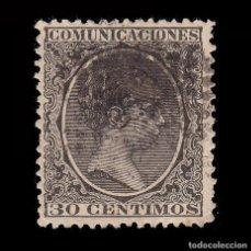Sellos: 1889-1901. ALFONSO XIII.30C.MATASELLO ROMBO PUNTOS .EDIFIL.222. Lote 262939565