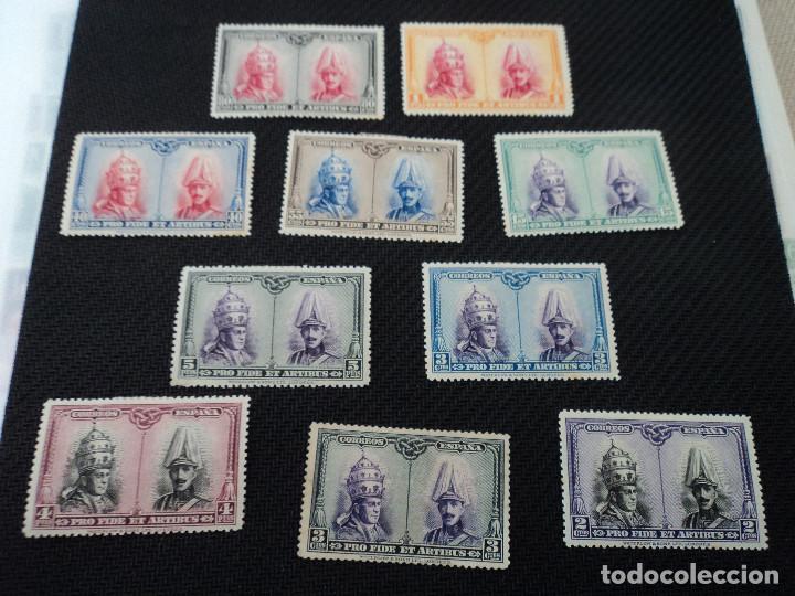 10 SELLOS ESPAÑA NUEVOS AÑO 1928 PRO CATACUMBAS SERIE PARA SANTIAGO, LOS DE LAS FOTOS (Sellos - España - Alfonso XIII de 1.886 a 1.931 - Nuevos)