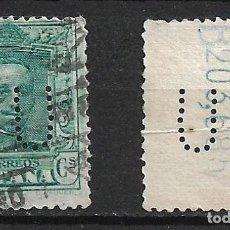 Sellos: ESPAÑA 1922-1930 EDIFIL 315A USADO PERFORADO B U - 1/36. Lote 263172985