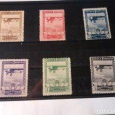 Sellos: 448/53 * 1929 PRO EXPOSICIONES SEVILLA Y BARCELONA AÉREO, BIEN CENTRADOS. Lote 263199765