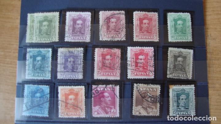 ESPAÑA LOTE 15 VALORES ALFONSO XII TIPO VAQUER VER FOTOS Y DESCRIPCION (Sellos - España - Alfonso XIII de 1.886 a 1.931 - Usados)
