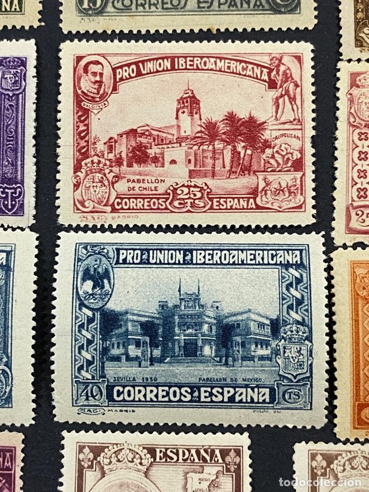 Sellos: ESPAÑA, 1930. EDIFIL 566/82. SERIE COMPLETA. NUEVOS. CON CHARNELA. - Foto 8 - 264131365